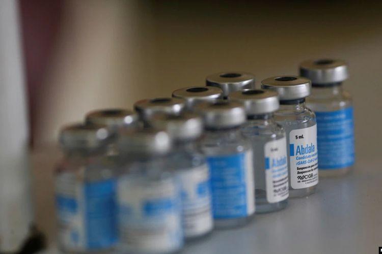 Vaksin buatan Kuba, Abdala, di Caracas, Venezule, 1 Juli 2021.