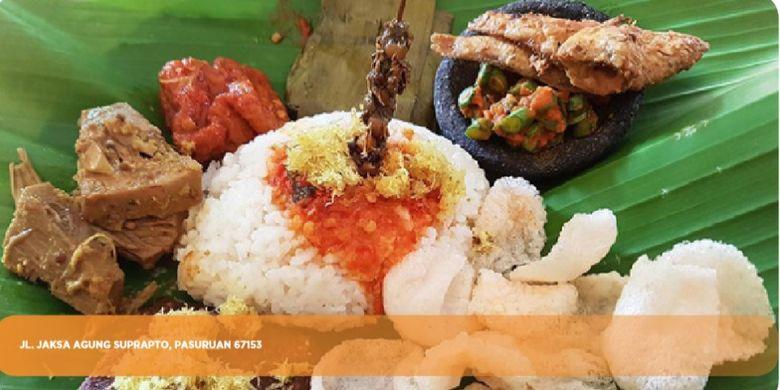 Nasi Punel Hj Lin di Pasuruan