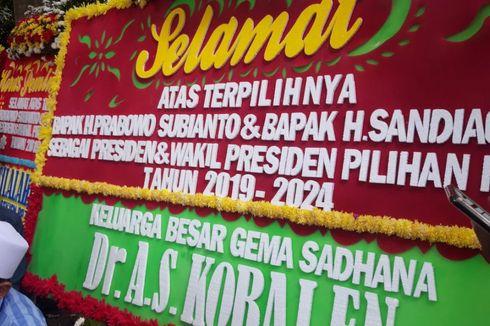 Karangan Bunga Ucapan Selamat Terpilihnya Prabowo sebagai Presiden Hiasi Kertanegara
