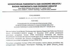 Kementerian Pariwisata Tunda Pengadaan CPNS 2019, Ini Alasannya