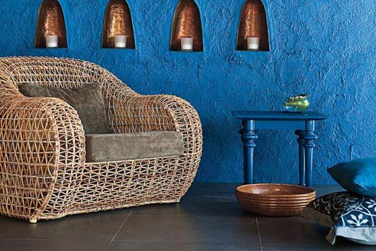 Furnitur rotan karya Kenneth Cobonpue. Furnitur ini mengantarkan Cobonpue menjadi desainer nomor satu di acara Maison&Objet Asia 2014.