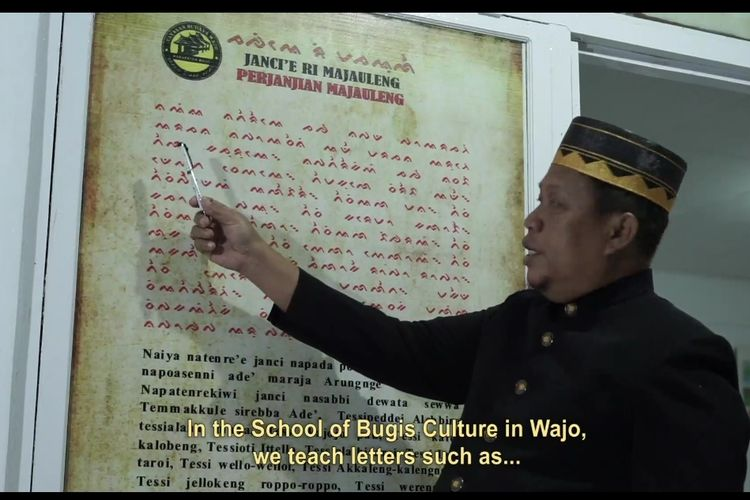Aksara Bugis diajarkan di Sekolah Budaya Bugis Kabupaten Wajo.