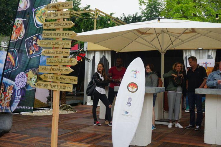Promosi kawasan Mandalika NTB dalam kegiatan misi penjualan oleh Kementrian Pariwisata di Belanda.