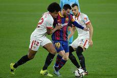 Sevilla Vs Barcelona - Lionel Messi Frustrasi, 2 Pendamping Buntu