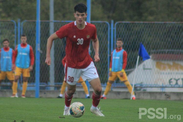 Pemain keturunan Inggris yang membela timnas U19 Indonesia, Elkan Baggott.