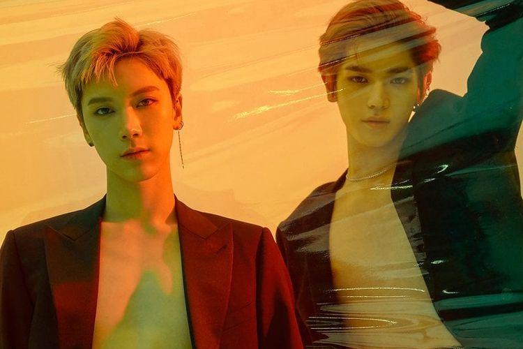 Ten dan Taeyong yang tergabung dalam NCT U untuk Baby Don't Stop.