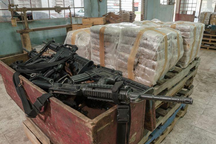 Ilustrasi kartel narkoba di Meksiko.