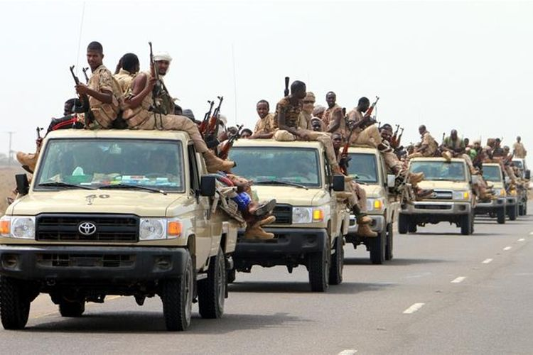 Pasukan Sudan yang mendukung koalisi Arab Saudi bergerak menuju Hodeidah untuk merebut pelabuhan itu dari pemberontak Houthi.