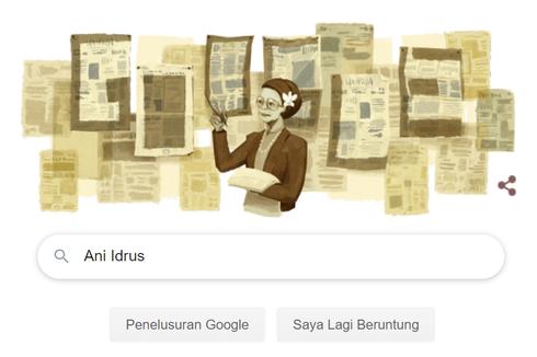 Ani Idrus Jadi Sosok Google Doodle Hari Ini, Siapa Dia?