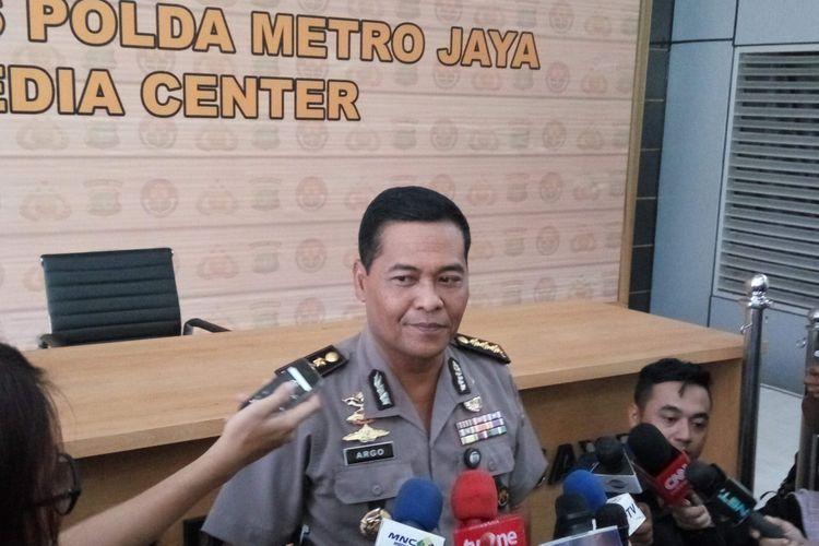 Kabid Humas Polda Metro Jaya Kombes Argo Yuwono saat diwawancarai di Mapolda Metro Jaya, Selasa (2/5/2017).
