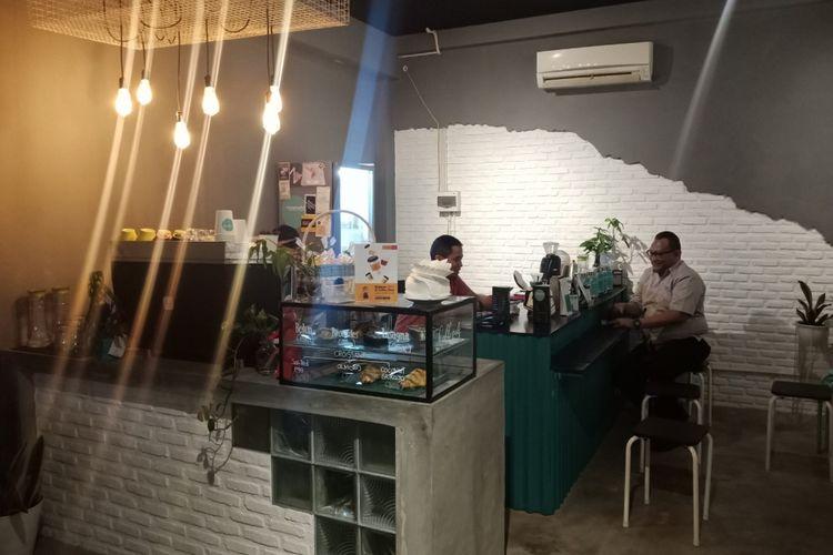 Kafe kopi Meanwhile, yang dipilih Ridwan Kamil bertemu dengan Sandiaga Uno di Mega Kuningan, Jakarta saat diku jungi KompasTravel, Senin (17/9/2018).