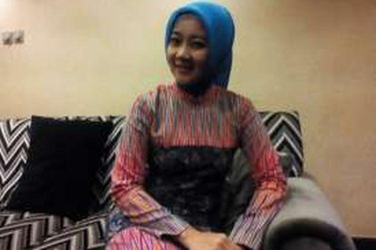 Istri Wali Kota Bandung Ridwan Kamil, Atalia Praratya saat ditemui Kompas.com di Hotel Horison, Jalan Pelajar Pejuang, Selasa (8/3/2016).