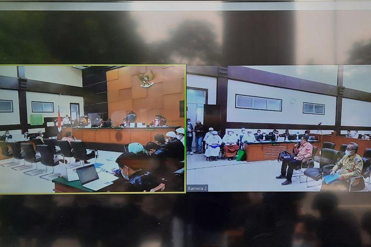 Sidang Rizieq Shihab di Pengadilan Negeri (PN) Jakarta Timur pada Kamis (6/5/2021).