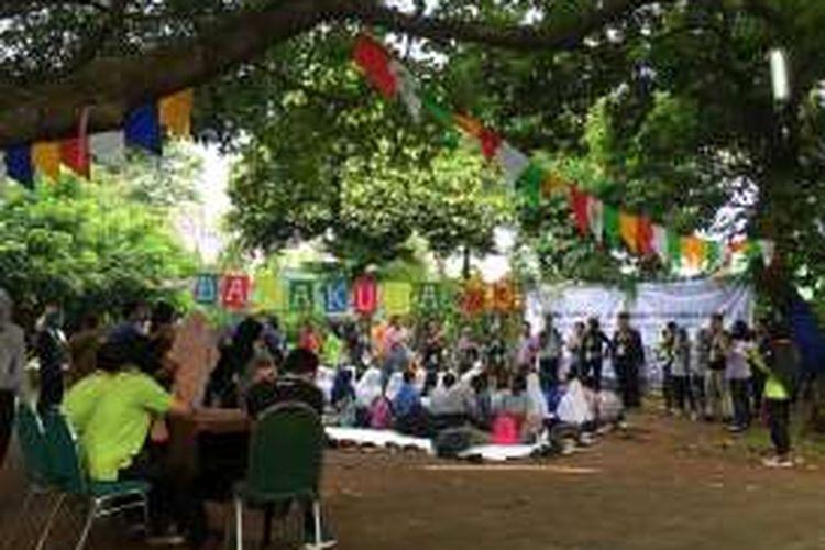 Ratusan anak muda penerima (BPI) Lembaga Pengelola Dana Pendidikan (LPDP) Kementerian Keuangan menggelar acara