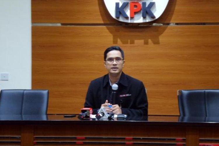 Juru Bicara KPK Febri Diansyah di Gedung KPK Jakarta, Kamis (23/2/2017).