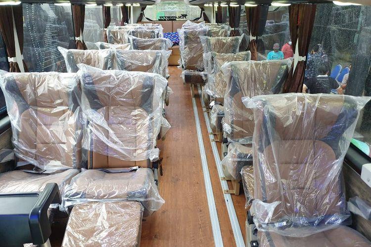 Kabin bus pariwisata PO SS Trans