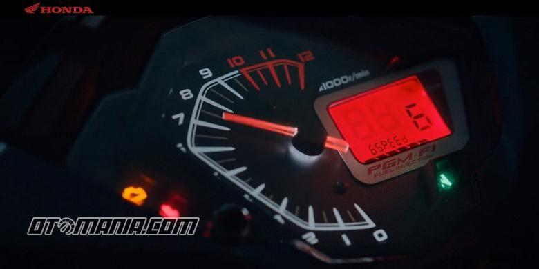 Speedometer sepeda motor bebek Honda terbaru, transmisi menggunakan tipe 6-percepatan.