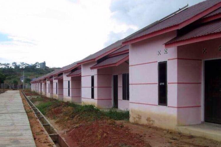 Rumah tapak murah yang diperuntukkan bagi MBR di Perumahan Pesona Bukit Batuah di Batu Ampar, Balikpapan Timur, Kalimantan Timur.