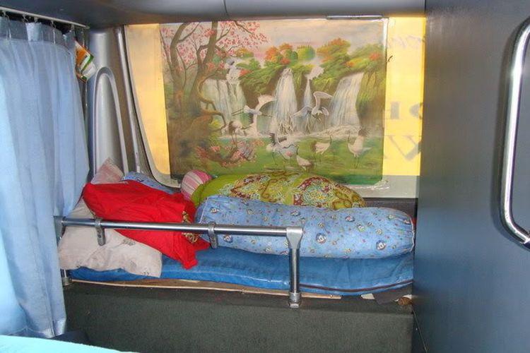 Tempat tidur sopir bus