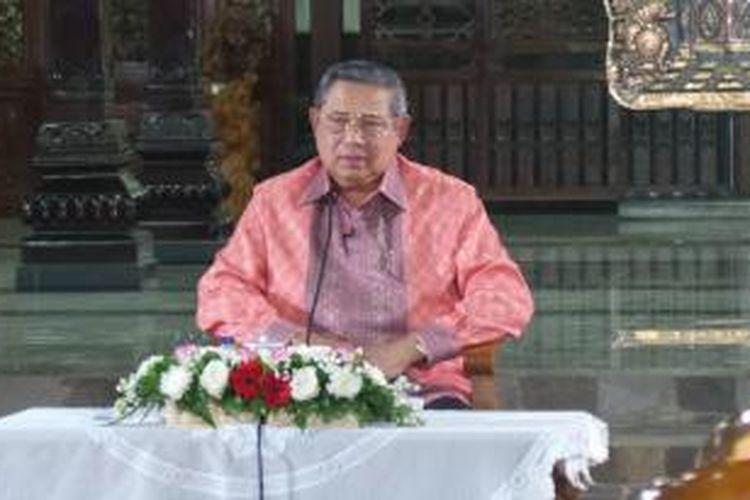 Susilo Bambang Yudhoyono di Cikeas, Kamis (27/8/2015)