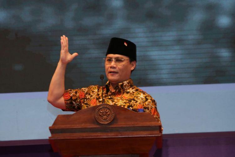 Wakil Sekretaris Jenderal PDI-P Ahmad Basarah saat menjadi pembicara di Universitas Negeri Malang (UM) Rabu (8/8/2018)