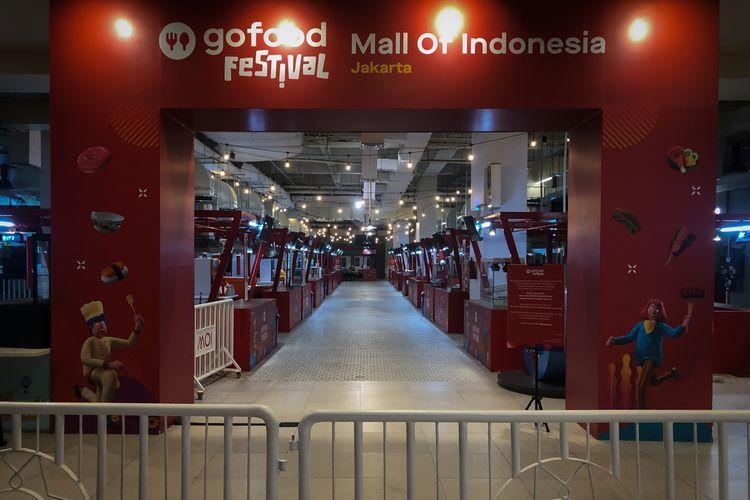 Ilustrasi GoFood Festival di Mall of Indonesia, Jakarta.