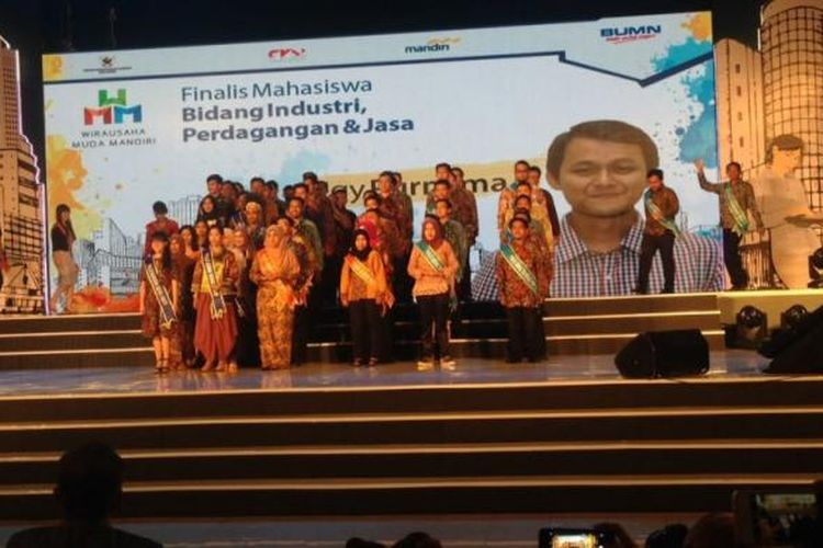 Finalis Wirausaha Muda Mandiri (WMM) 2016 di Auditorium Kampus Institut Pertanian Bogor (IPB), Bogor, Sabtu (11/3/2017).