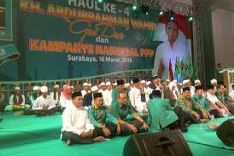 Kampanye pileg nasional perdana PPP di Surabaya.