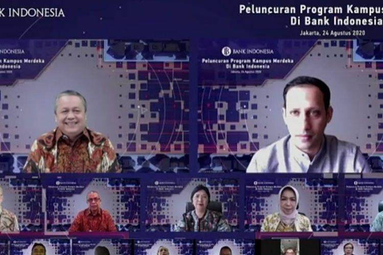 Bank Indonesia (BI) mendukung kebijakan Merdeka Belajar Kementerian Pendidikan dan Kebudayaan (Kemendikbud) melalui program Kampus Merdeka bidang kebanksentralan.