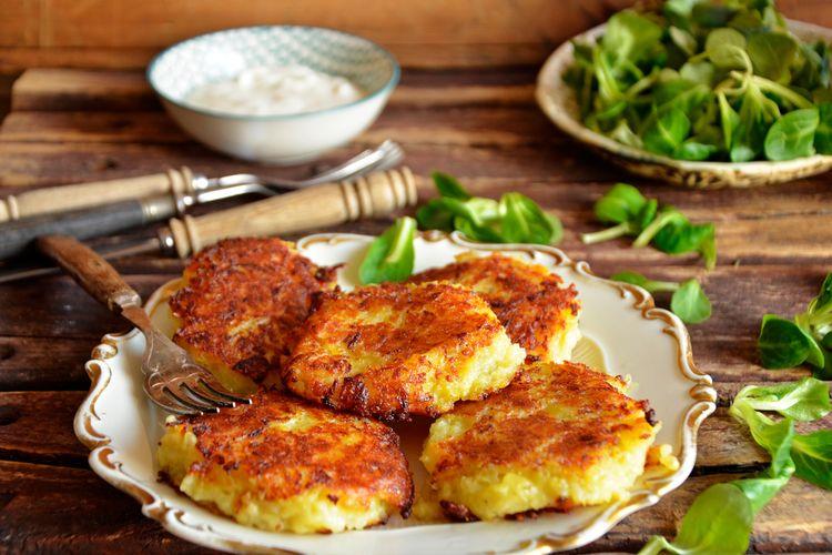 Ilustrasi rosti kentang ala Swiss.