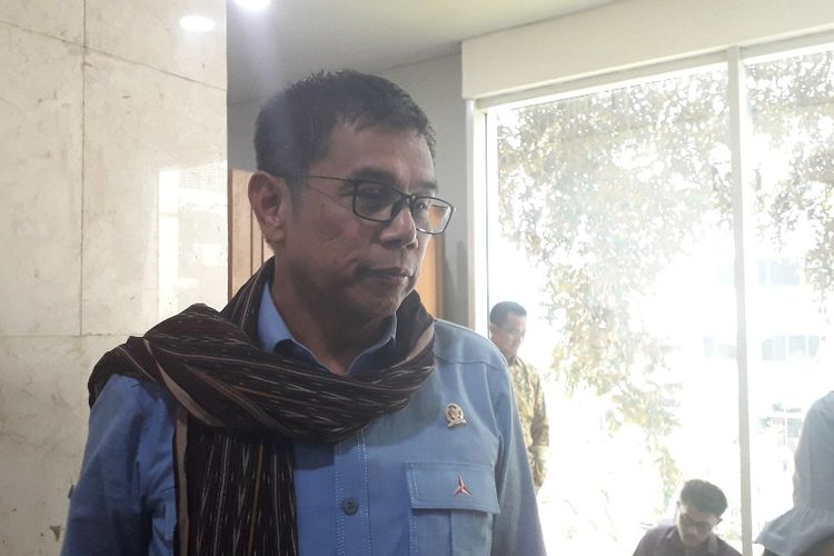 Anggota DPR dari Partai Demokrat Hinca Pandjaitan di Gedung DPR, Senin (1/7/2019).