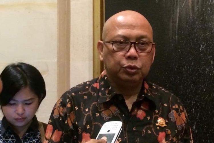 Direktur Jenderal Perhubungan Darat Kemenhub, Pudji Hartanto saat ditemui di Hotel Borobudur Jakarta, Rabu (3/5/2017).