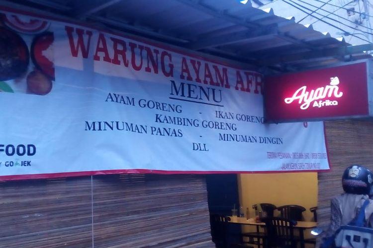 Kedai Ayam Afrika di Kebon Sirih, Jakarta Pusat