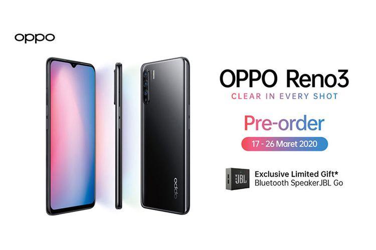 Pre-order OPPO RENO3 bisa dilakukan dari 17-26 Maret 2020.