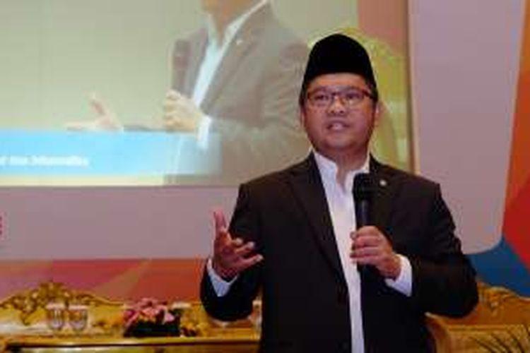Menkominfo Rudiantara di acara Indonesia LTE Conference 2016 di Jakarta, Rabu (18/5/2016).