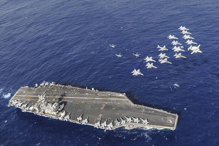 Salah satu kapal induk milik Amerika Serikat (AS), USS Nimitz.
