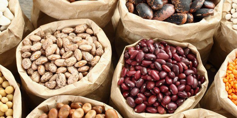 Ilustrasi kacang-kacangan