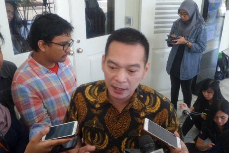 Wakil Sekretaris Jenderal DPP Partai Kebangkitan Bangsa (PKB) Daniel Johan mendatangi Gubernur DKI Jakarta Basuki Tjahaja Purnama atau Ahok di Balai Kota, Jakarta Pusat, Kamis(2/3/2017).