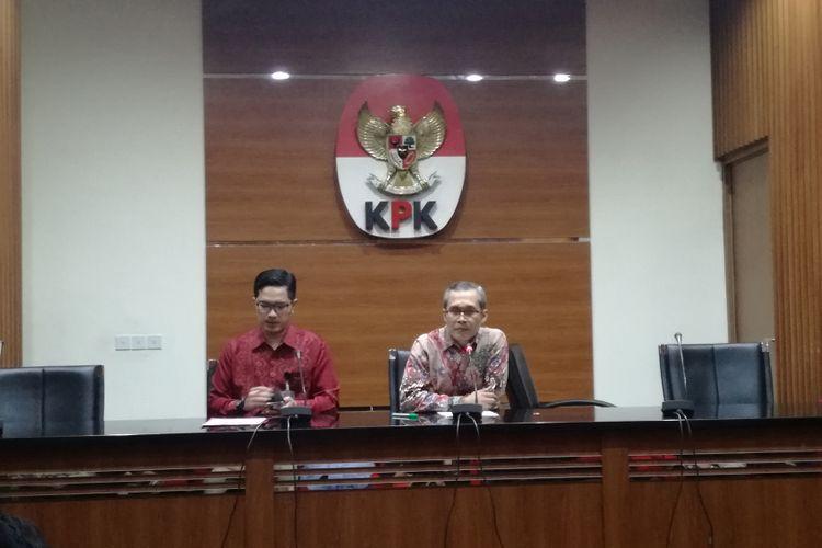 Juru Bicara KPK Febri Diansyah dan Wakil Ketua KPK Alexander Marwata