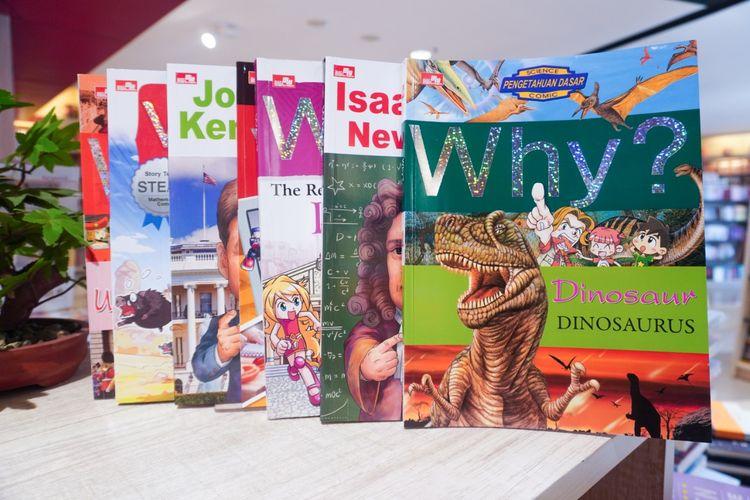 Penerbit Elex Media Komputindo Why? Series, seri komik pendidikan yang dikemas secara ringan dan menghibur untuk anak.