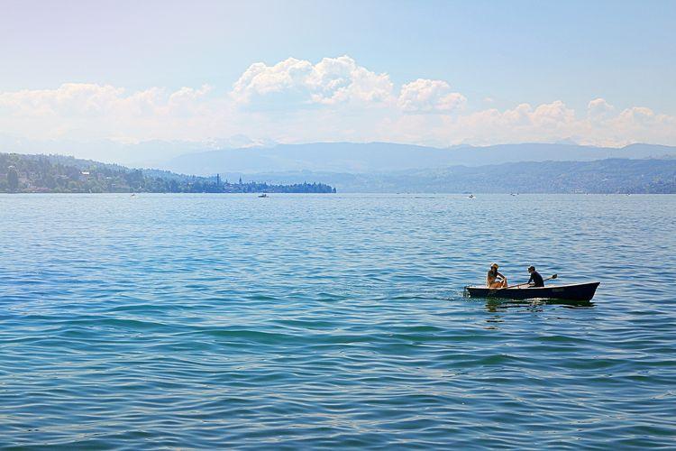 Tempat wisata di Swiss - Danau Zurich di Zurich.