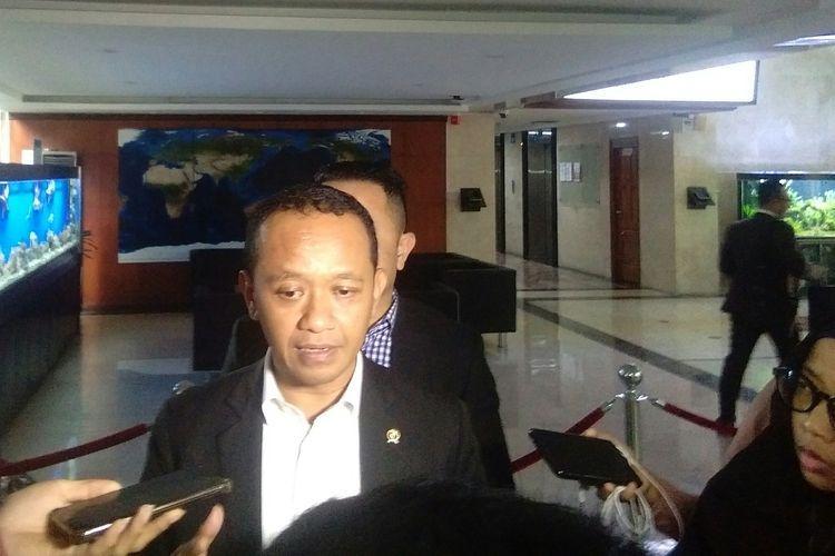 Kepala BKPM, Bahlil Lahadalia usai mengikuti rapat koordinasi di Kantor Kemenko Kemaritiman dan Investasi, Jakarta, Senin (24/2/2020).