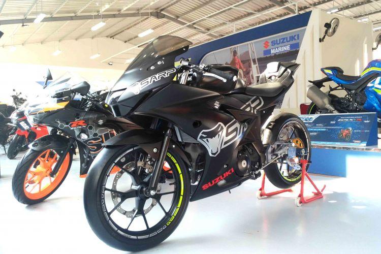 Mdifikasi motor Suzuki di ajang Jakarta Fair 2017
