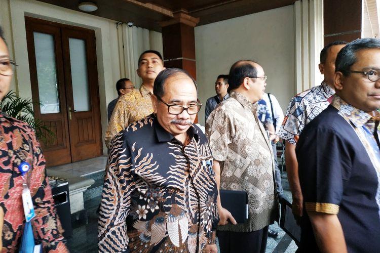 Kepala PPATK Kiagus Ahmad Badaruddin di Kantor Kemenko Polhukam, Jumat (6/3/2020).