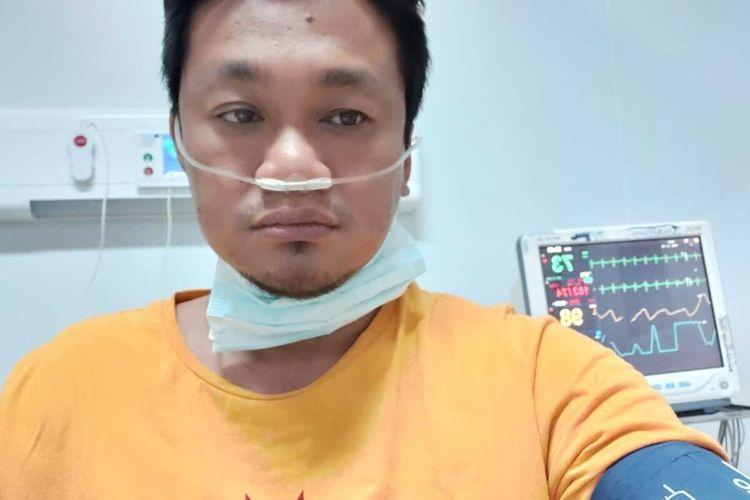 Dokter ahli bedah, dr. Sriyanto, SpB saat masih dirawat di RSUD dr. Moewardi.