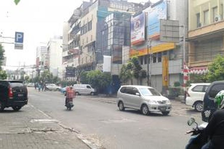 Jalan H Agus Salim-Sabang, Kebon Sirih, Menteng, Jakarta Pusat, menjadi lokasi uji coba meteran parkir yang akan diterapkan Dinas Perhubungan DKI Jakarta mulai September 2014.