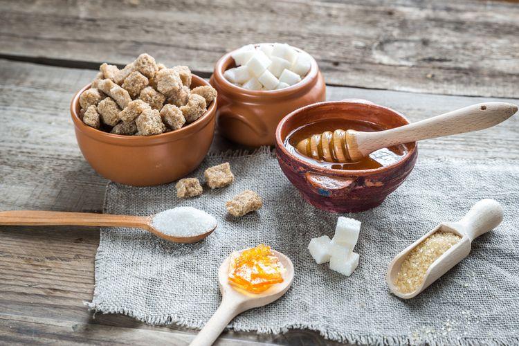 Ilustrasi madu dan gula