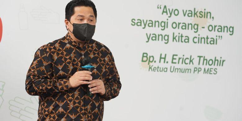 Update, Erick Thohir Ungkap Sederet Upaya BUMN Bantu UMKM Bertahan di Masa Pandemi