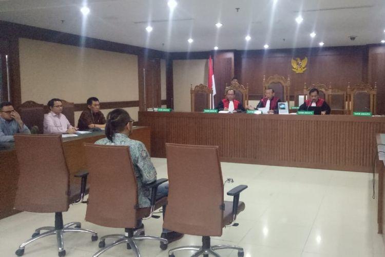 Andi Zulkarnain Mallarangeng alias Choel di Pengadilan Tipikor Jakarta, Kamis (19/7/2018).