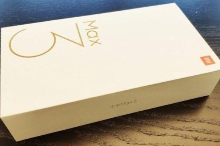 Kotak kemasan Xiaomi Mi Max 3